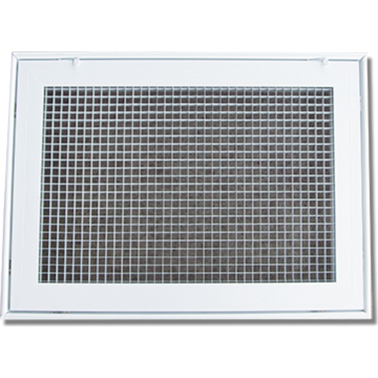 View 2 of Shoemaker 620FG1-18X10 18X10 Soft White Lattice Filter Grille with Steel Frame - Shoemaker 620FG Series