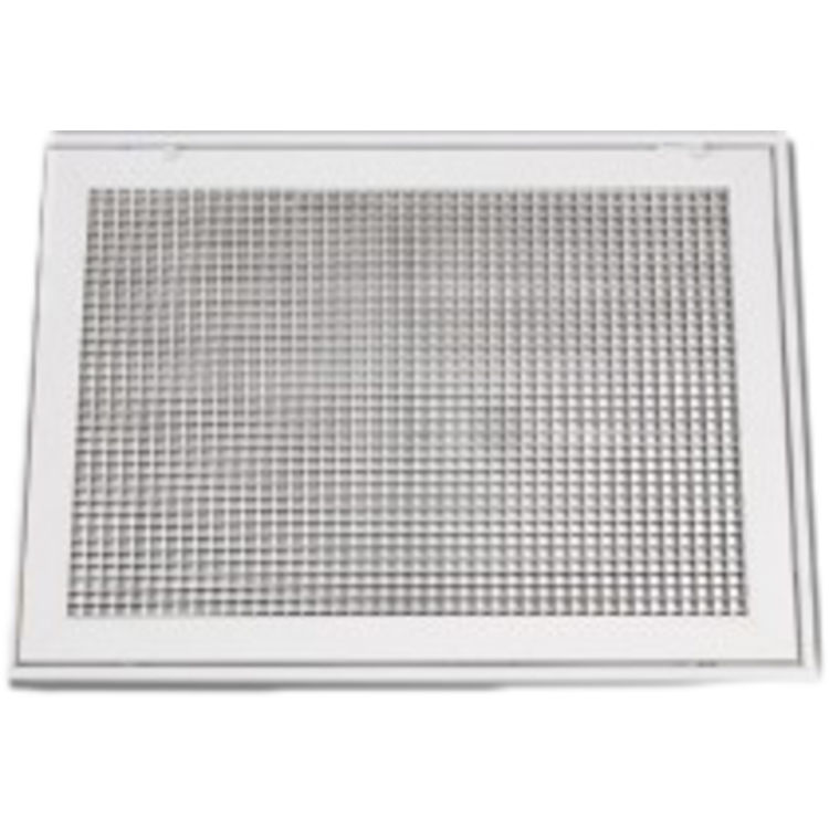 View 3 of Shoemaker 620FG1-16X14 16X14 Soft White Lattice Filter Grille with Steel Frame - Shoemaker 620FG Series