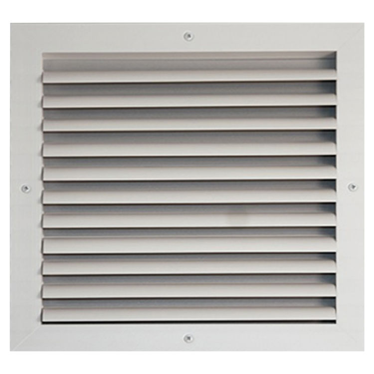 View 2 of Shoemaker CB10-22X22 22X22 Soft White One-Way Adjustable Curved Blade Diffuser (Aluminum) - Shoemaker CB10