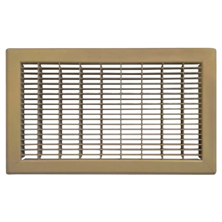 View 2 of Shoemaker 1600-R-18X24 18x24 Driftwood Tan Vent Cover (Steel Honeycomb Construction) - Shoemaker 1600R