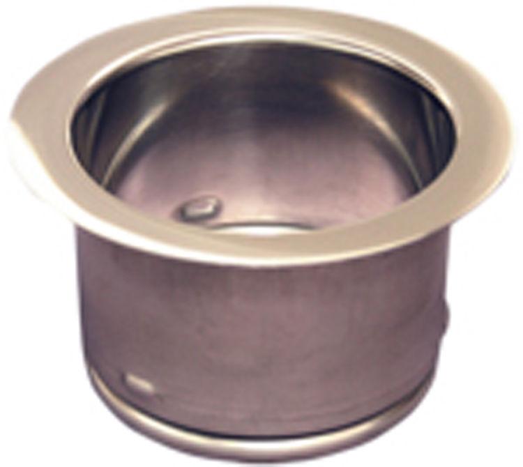 waste king 3140 polished stainless extended sink flange 3 bolt - Sink Flange