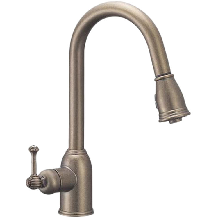 Danze BEL-PDK-ATC DANZE BEL-PDK-ATC BELLA VILLA 2 Position Pull Down Kitchen Faucet Antique Copper