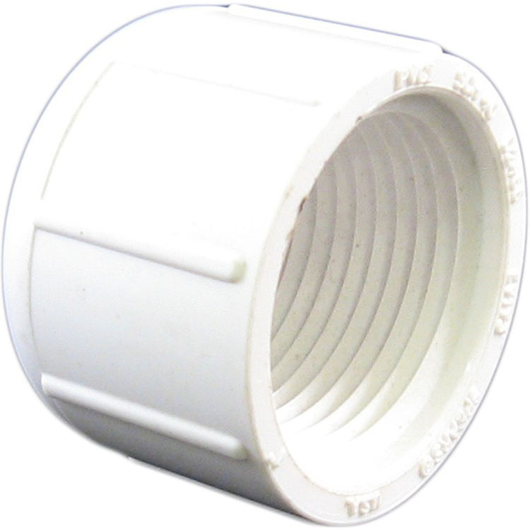 Commodity  PVCCAP1T Schedule 40 PVC Threaded Cap, 1 Inch