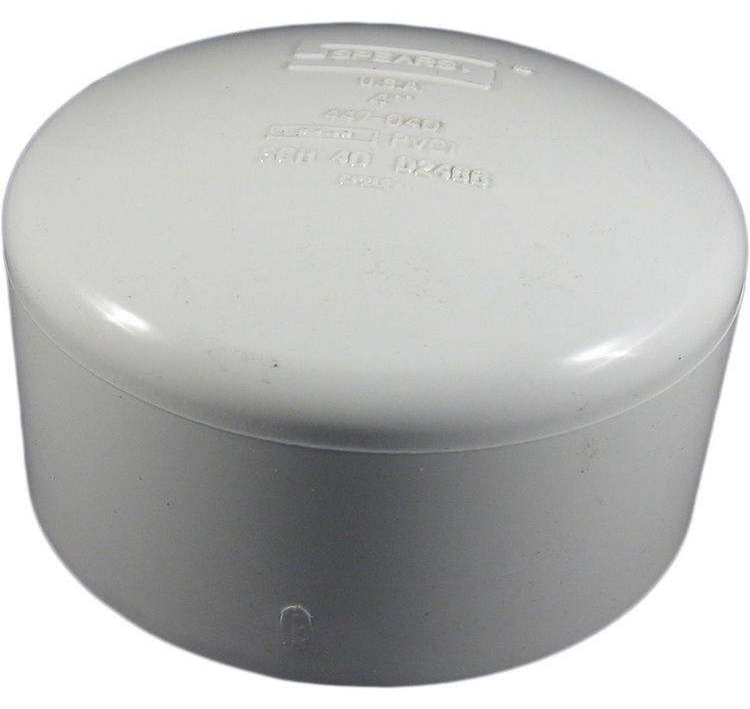 Commodity  PVCCAP4 Schedule 40 PVC Slip Cap, 4 Inch