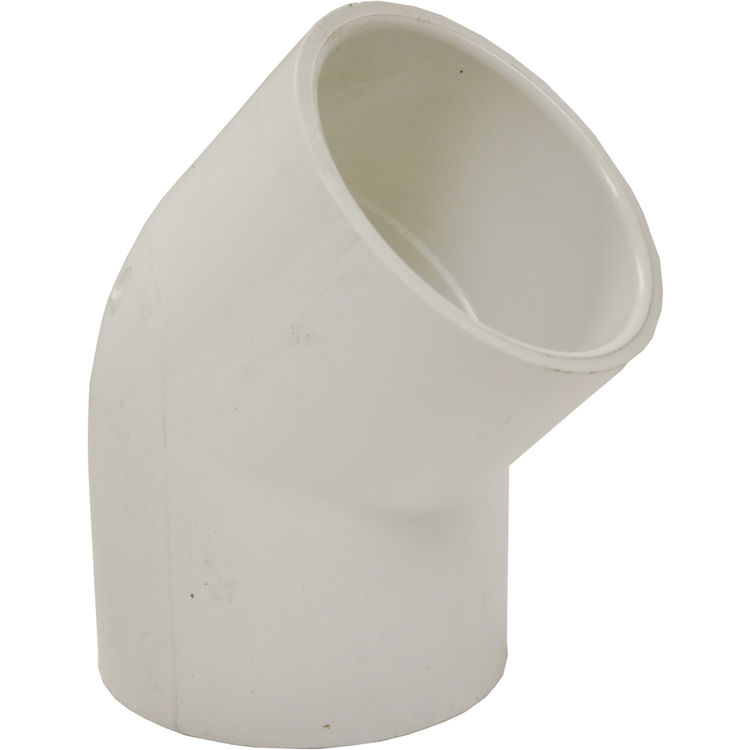 Commodity  PVCL45212 Schedule 40 PVC 45 Degree Elbow, 2-1/2 Inch