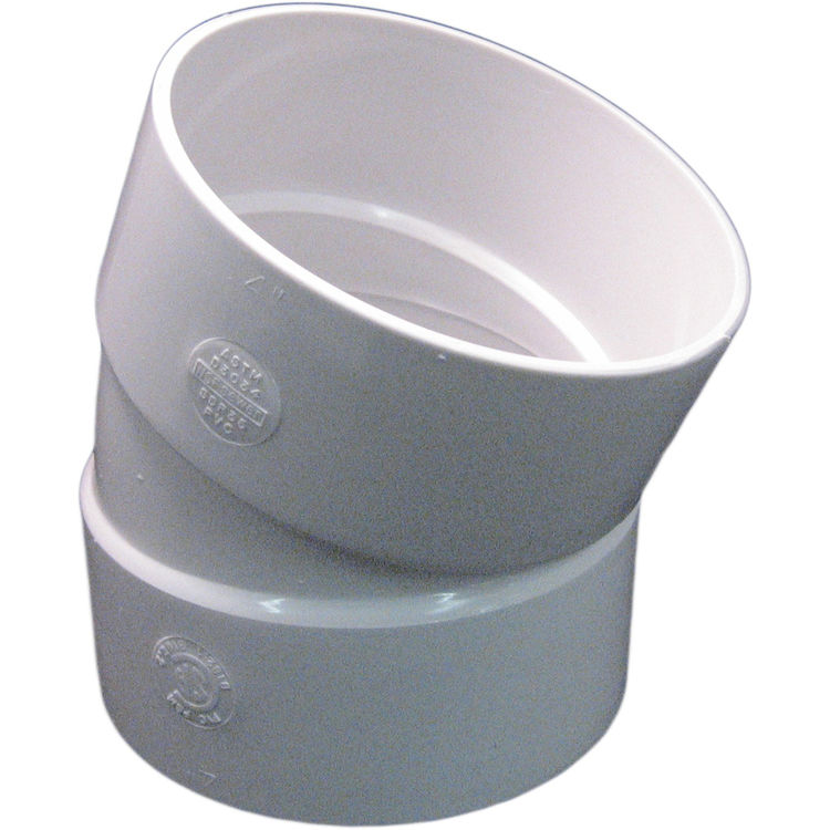 Commodity  4 Inch PVC Sewer & Drain 22.5 Degree Elbow