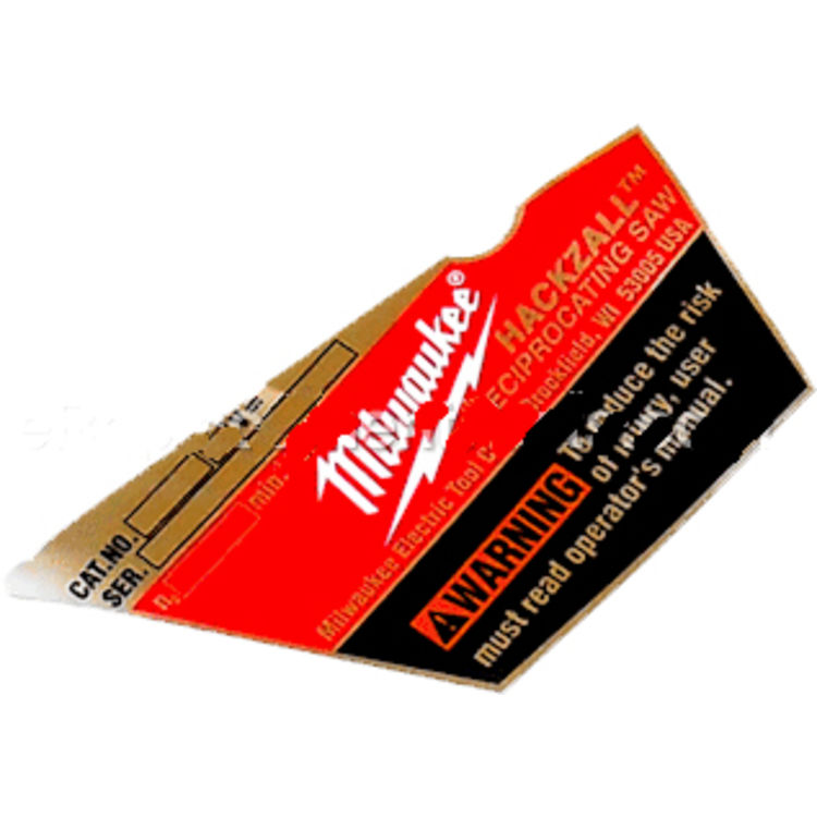 Milwaukee 12-20-2421 Milwaukee 12-20-2421 Service Nameplate Kit /2420-22