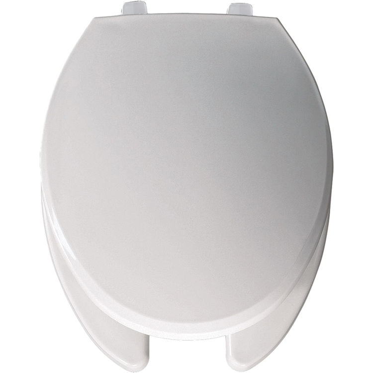 Awe Inspiring Bemis 7650Tj 000 White Open Front Elongated Plastic Toilet Seat With Cover Andrewgaddart Wooden Chair Designs For Living Room Andrewgaddartcom