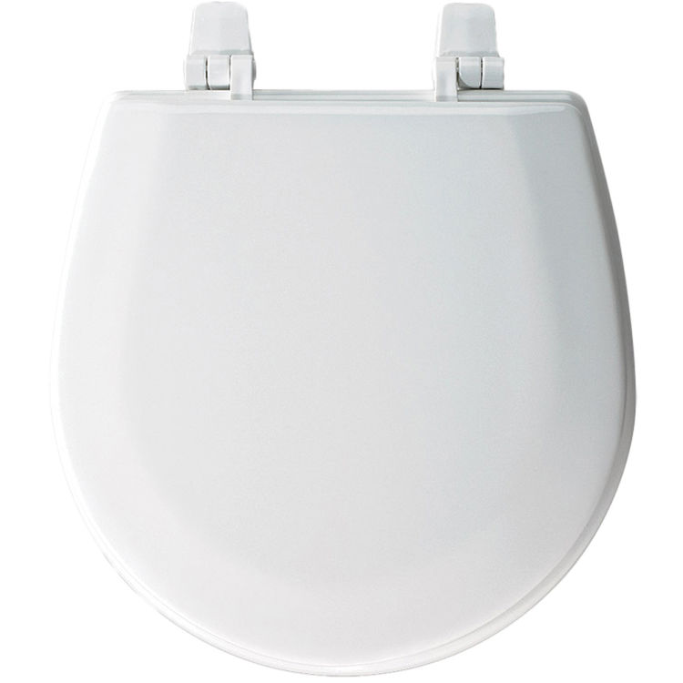 Bemis Tc50tta 000 White Closed Front Wood Toilet Seat With Cover