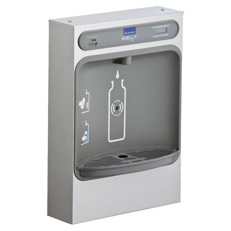 Elkay LZWSSM Elkay LZWSSM ezH2O Surface Mount Bottle Filling Station - Non-Refrigerated, Filtered, Stainless