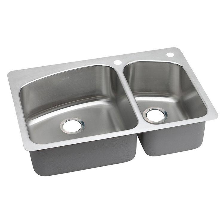 Elkay DPXSR2250R2R Elkay DPXSR2250R2R Dayton Stainless Steel Double Bowl Sink
