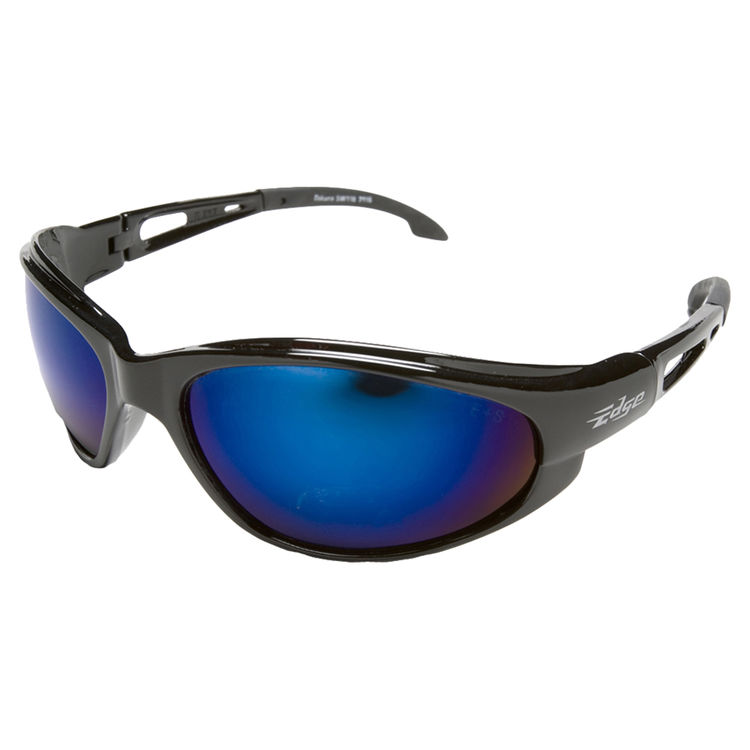 Edge SW118 EDGE SW118 DAKURA SAFETY SUNGLASSES - BLACK FRAME BLUE MIRROR LENS