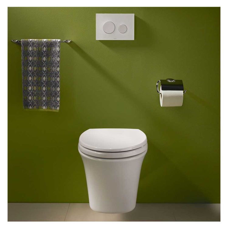 View 4 of Toto CT486FG#01 Toto Maris Wall-Hung Elongated Toilet Bowl with Skirted Design and CeFiONtect, Cotton White - CT486FG#01