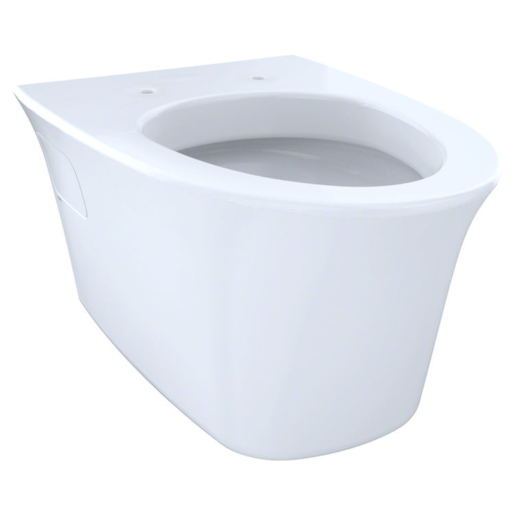 View 2 of Toto CT486FG#01 Toto Maris Wall-Hung Elongated Toilet Bowl with Skirted Design and CeFiONtect, Cotton White - CT486FG#01