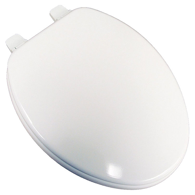 Jones Stephens U004wd00 White Elongated Wood Toilet Seat