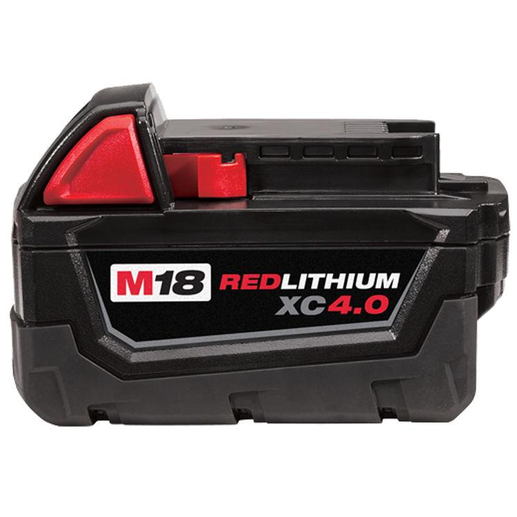 Milwaukee 48-11-1840 MILWAUKEE 48-11-1840 Milwaukee 48-11-1840 M18 REDLITHIUM XC 4.0 Extended Capacity Battery Pack