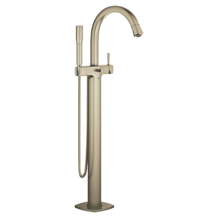 View 2 of Grohe 23318EN0 GROHE 23318EN0 Brushed Nickel Grandera Series Floor Mount Tub Filler