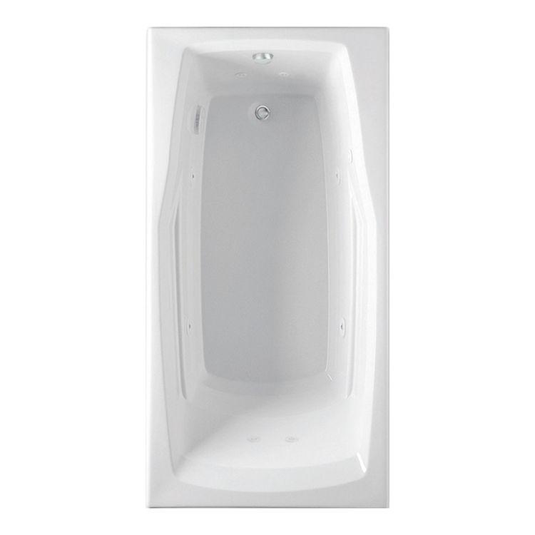 Aquatic 4660621V-WH Aquatic Bath 4660621-WH White Universal Drain 60