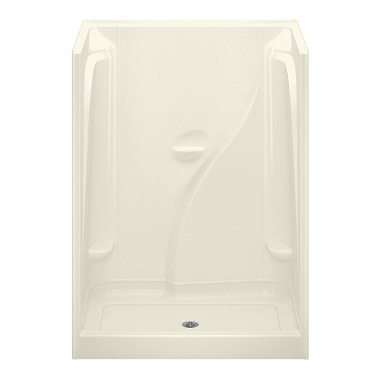 Aquatic CAE160R-BI Aquatic Industries CAE160R-BI Biscuit 60x36x78 Acrylic Shower with Center Drain