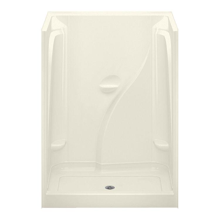 Aquatic CAE1602-BI Aquatic Industries CAE1602-BI Biscuit 60x36x78 Acrylic Shower with Center Drain