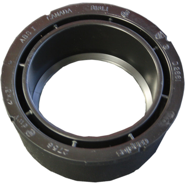 Commodity  4 x 3 Inch ABS Flush Bushing, ABS Construction