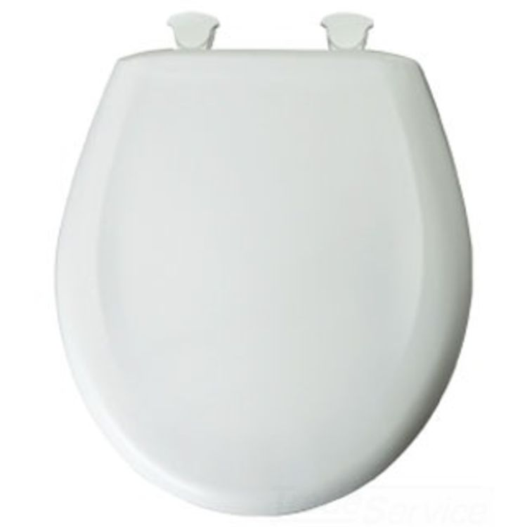 Fantastic Bemis 200E3 000 White Easy Close Round Plastic Toilet Seat Pdpeps Interior Chair Design Pdpepsorg