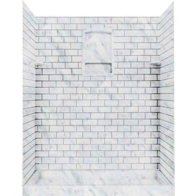 Swanstone Stmk72 3662 131 Subway Tile Shower Wall Kit