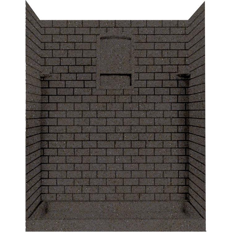 Swanstone Stmk72 4848 124 Subway Tile Shower Wall Kit 48x48x72 Canyon