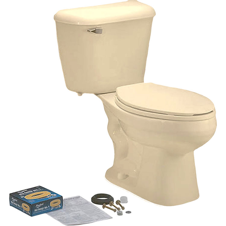 View 2 of Mansfield 4137CTK-BONE Mansfield 4137CTK-Bone Pro-fit 3 1.28 GPF ADA Elongated Bowl Toilet