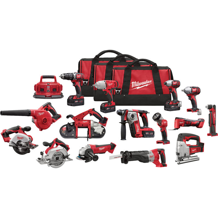 Milwaukee 2695-15 Milwaukee 2695-15 M18 15 Piece Tool Combo Kit
