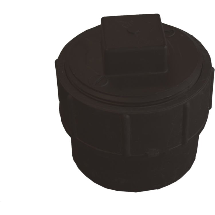 Commodity  4 Inch ABS Cleanout Adapter, ABS Construction