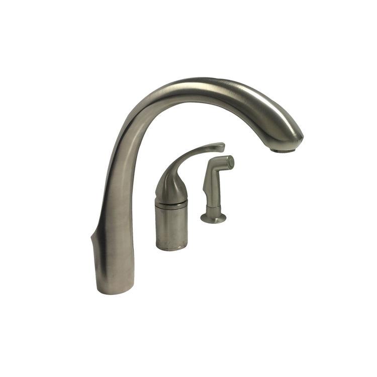 Kohler K-10430-BN Brushed Nickel Kitchen Faucet With Spray