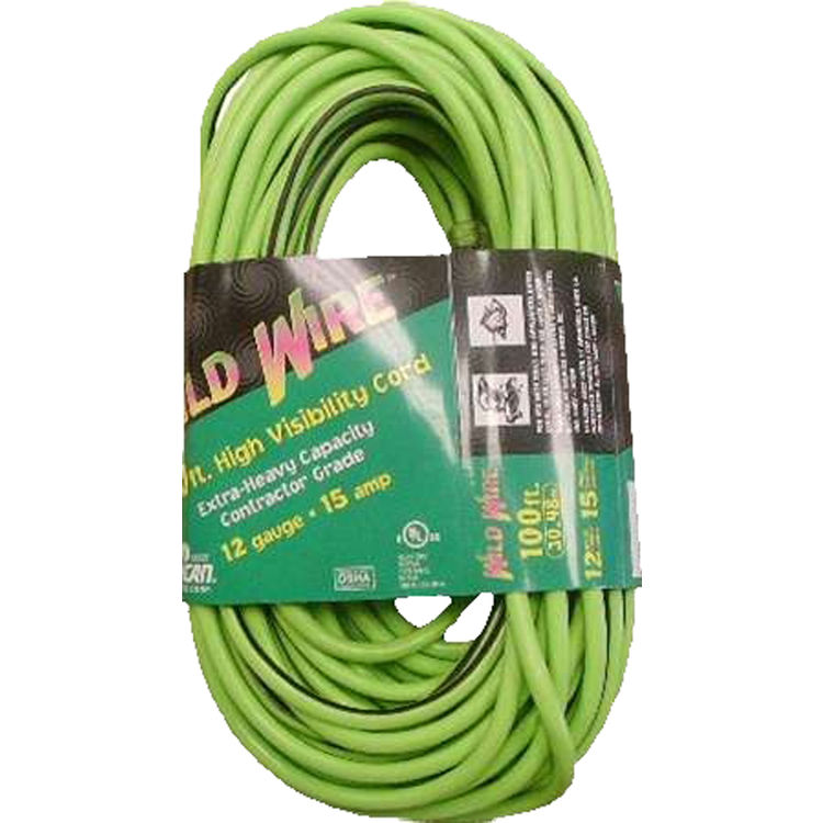 Voltec 05-00116 100' Green Extension Cord with Lighted End