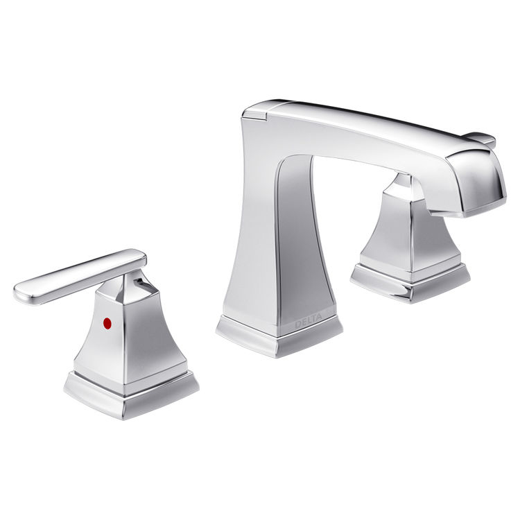 View 2 of Delta 3564-MPU-DST Delta 3564-MPU-DST Chrome Ashlyn Two Handle Widespread Lavatory Faucet