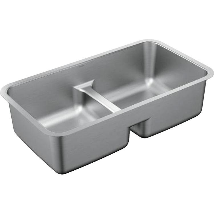 Moen G18252 Moen G18252 Stainless Double Bowl Undermount Sink