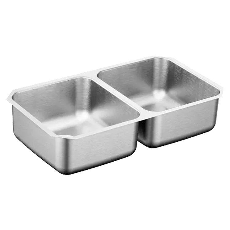 Moen G20210B Moen G20210B Stainless Double Bowl Undermount Sink