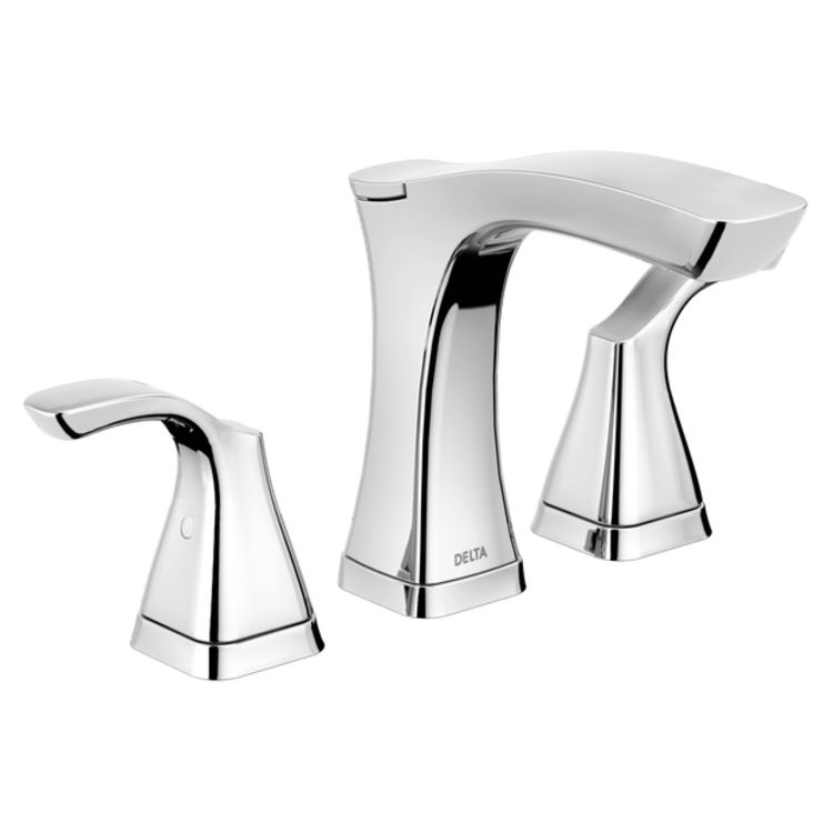 Delta 3552-MPU-DST Delta 3552-MPU-DST Chrome Two Handle Widespread Lavatory Faucet