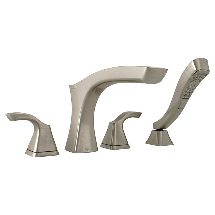 View 2 of Delta T4752-SS Delta T4752-SS Stainless Roman Tub Faucet Trim with Spray
