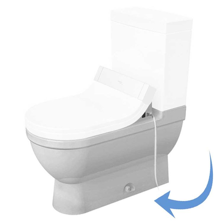 View 3 of Duravit 2125010000 Duravit 2125010000 Starck 3  Floor Mounted Elongated US-Version Toilet - White