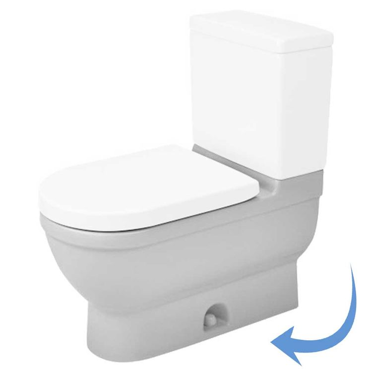View 9 of Duravit 2125010000 Duravit 2125010000 Starck 3  Floor Mounted Elongated US-Version Toilet - White