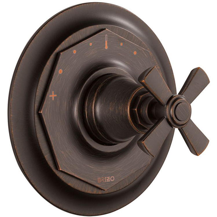 View 3 of Brizo T66T061-RB Brizo T66T061-RB Venetian Bronze Rook Thermostatic Valve Only Trim
