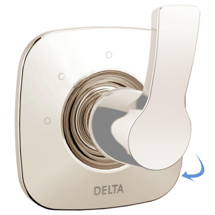 View 2 of Delta RP78705PN Delta RP78705PN Tesla Escutcheon for 3-Setting Diverter, Polished Nickel