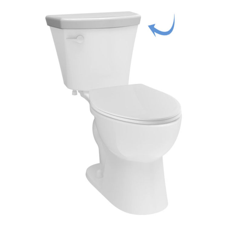 View 2 of Delta RP78254WH Delta RP78254WH Turner Toilets Tank Lid, White