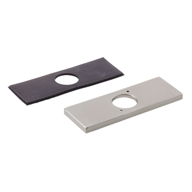 Delta RP78358SS Delta RP78358SS Modern Rectangular 3-Hole Escutcheon and Gasket, Stainless