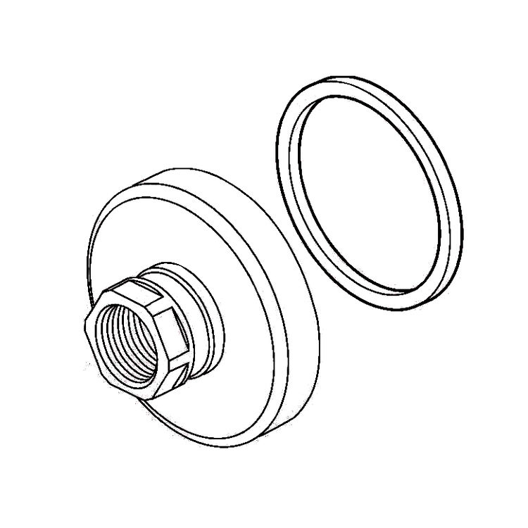 View 2 of Delta RP79433SS Delta RP79433SS COMPEL Spout Flange and Gasket - Stainless