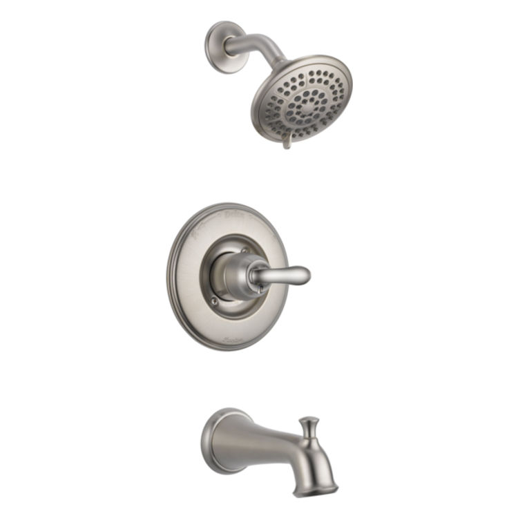 Delta T14494-SSSOS Delta T14494-SSSOS LINDEN Tub and Shower Trim with Slip-On Spout - Brilliance Stainless