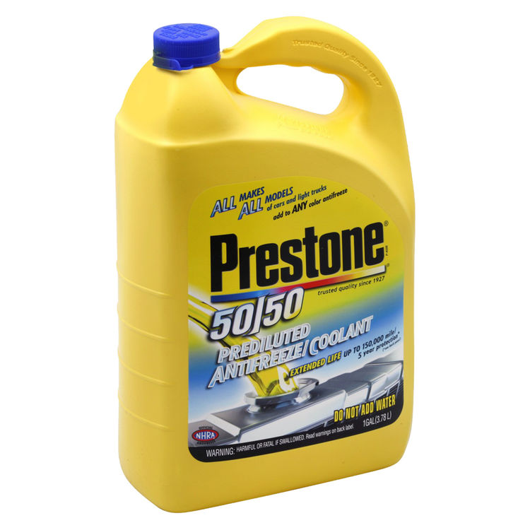 Prestone AF2100 Prestone 50/50 AF2100 Ready-To-Use Antifreeze and Coolant, 1 gal Plastic Bottle, Yellow Liquid