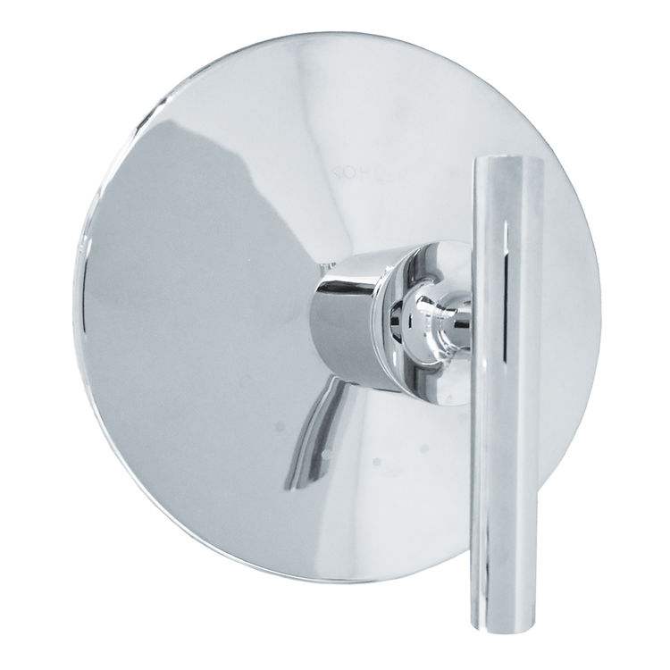 View 2 of Kohler T14488-4-CP Kohler K-T14488-4-CP Polished Chrome Purist Thermostatic Valve Trim