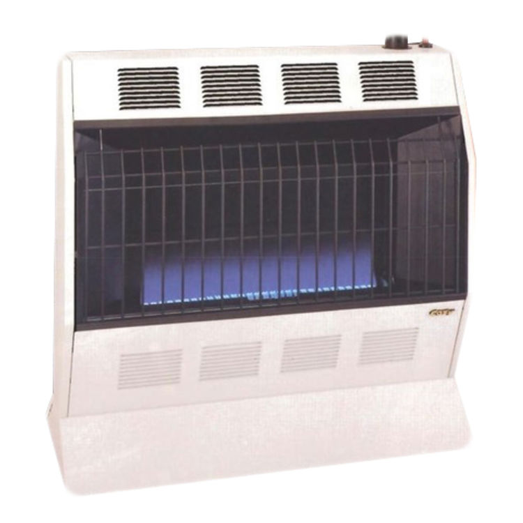 View 2 of Cozy BFT101 Cozy BFT101 10,000 BTU Vent-Free Blue Flame Heater, Neutral Bone