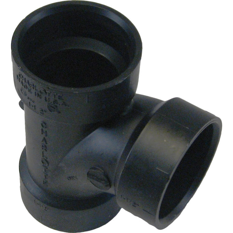 Commodity  3 Inch ABS Sanitary Tee, ABS Construction